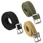 Outdoor Survival Paracord Belt Emergency Utility Cord w/ Stainless Steel Buckle
