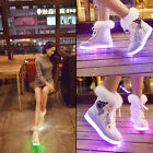 LED Light Lace Up High Top Furry Luminous Sportswear Sneaker Casual Shoes 2016