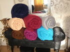 Fleece Throw/Bed Throw in 7 colours and 3 Large Sizes