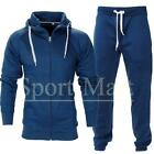 Mens Funnel Neck Squad Fleece Warm Hooded Full Zip Jogging Tracksuit Size
