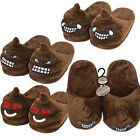 POO EMOJI SLIPPERS STUFFED UNISEX ADULTS FUN EMOTIONS WINTER MULE PLUSH INDOOR