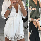 Summer Women V Neck Romper Trousers Bodycon Jumpsuit Party Clubwear New Playsuit