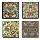 Set of 4 William Morris Design Tile Coasters - Choose Your Tile Colour