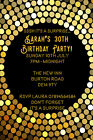 Personalised Gold Female Surprise Adult Birthday Party Invites inc Envelopes S11