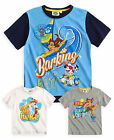 Boys Paw Patrol Short Sleeved T-Shirt New Kids Chase Marshall Tops Ages 3-8 Yrs