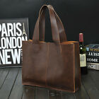 2016 Men's Women's Leather Briefcase Business Bag Laptop Handbag Shoulder Bag