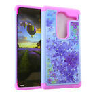 Shock Proof Armor Hard Soft Cover Case for LG Class / Zero - Rhinestone Crystal