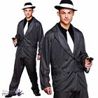 Mens Gangster Guy 1920s Chicago Al Capone Fancy Dress Costume Outfit with Hat