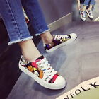 Yoocart Women Pringting Canvas Shoes Lace Up Trainers Low Top Athletic Casual