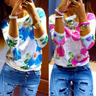 2 Colors Women Long Sleeve Shirt Casual Pullover Blouse Loose Tops T Shirt WDS