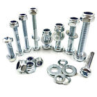 M3 ZINC MACHINE POZI PAN HEAD SCREWS BOLTS WITH NYLOC LOCKIN NUTS & THICK WASHER