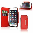 iPhone 5 / 5S & 6 Luxury Magnetic Leather Flip 2 in 1 Wallet Magnetic Book Case