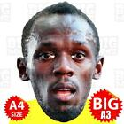USAIN BOLT - BIG A3 Face Mask or LIFE-SIZE - OLYMPIC ATHLETICS GAMES RIO 2016 GB