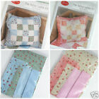 Quilted cushion kit, blue or pink perfect for beginners 45cm x45cm finished size