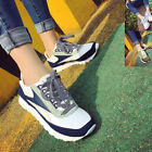 Yoocart Women Breathable Trainers Lace Up Athletic Lace Up Shoes Sneaker Casual
