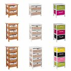 Unit 2 3 Or 4 Maize Drawers Basket White Wood Storage Container Bathroom Bedroom