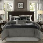 7 PIECE COMFORTER SET / BED IN A BAG - Cal King / King / Queen / Full - 3 COLORS