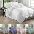 Внешний вид - Chezmoi Collection Chic Ruched Ruffle Textured Comforter Set, White, Pink, Gray