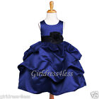 NAVY/BLACK WEDDING PICK UP FORMAL FLOWER GIRL DRESS 6M 12M 18M 2 3/4 5/6 8 10 12