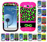 KoolKase Hybrid Silicone Cover Case for Samsung Galaxy S3 - Leopard Infinity GN