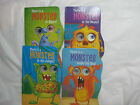 Lot of 4~Monster Board Books w/moving eyes~Jungle Sea Space House~New~LBDEU