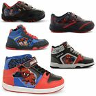 NEW BOYS KIDS HI TOP LACE UP STRAP STREET TRAINERS SNEAKERS SHOES SIZES UK 8-1