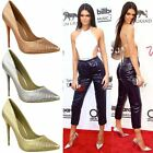 New Womens Ladies Court Shoes Celeb Glamour Designer High Heel Party Smart Size