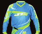 JT Racing Flex Flow MX Jersey Cyan/Neon Yellow/White YOUTH sizes