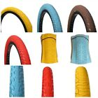 2/PAIR OF20 X 2.30 CURIO UK OLD SCHOOL BMX TYRES TIRES - BABY BLUE / BROWN / RED