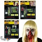 Halloween Horror Zip Zipper Make Up Paint Kit Fancy Dress Zombie Wound Scar Set