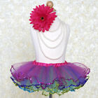 Multi-Colored with Sequined Edges TUTU SKIRT GIRLS Dance Birthday Party Costume