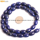"Natural Stone Genuine Lapis Lazuli Gem Beads For Jewelry Making 15"" Olivary"