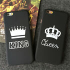 New Simple King Queen Couple Matte Hard Case Cover Skin For iPhone 5 6 6S 7 Plus