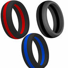 9MM SZ 5-15 Silicone Rubber Ring Hypoallergenic Fitness Cross-fit Sports Outdoor