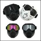 Pop Motorcycle Goggles Nose Face Mask Protective Helmet Riding Shield Flexible