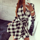 2016 Women Summer Casual Long Sleeve Evening Party Cocktail Short Mini Dress New