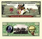 Native American Million Dollar Bill (Pick Quantity 5 to 5000 Bills)