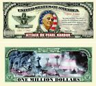 Pearl Harbor Million Dollar Bill (Pick Quantity 5 to 5000 Bills)