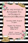 Personalised Princess Birthday Afternoon Tea Party Invites inc envelopes B75
