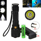 5000LM XML2 Pressure Switch LED Scuba Diving Flashlight 3Modes Torch 18650 Lamp