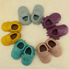 Moccasin Cowhide Toddler Baby Tassel Shoes Unisex Infant Sole Leather