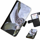 BIRA23 OWL MOON PRINTED LEATHER WALLET/FLIP PHONE CASE COVER FOR ALL MODELS