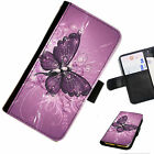 BUTTA30 BUTTERFLY PRINTED LEATHER WALLET/FLIP PHONE CASE COVER FOR ALL MODELS