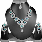 Zirkonic Indian Handmade Silver Plated Jewelry Necklace Sets FASHION EDH