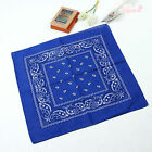 100% Cotton Double Sided Paisley Bandanas Head Scarf Wrap Wristband Handkerchief