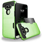 Hybrid Rubber Shockproof Card Wallet Hard Back Case Cover For LG G5 Pro V10 V20