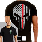 Thin Red Line Men's Skull T-Shirt