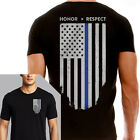 Thin Blue Line Men's Black Flag T-Shirt
