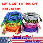 US SHIP Braided Micro USB Data&Sync Charger Cable For i Phone 6 6s 7 8 plus X Xs