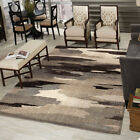 Gray Contemporary Synthetics Splotched Painted Blurry Area Rug Abstract 1663
